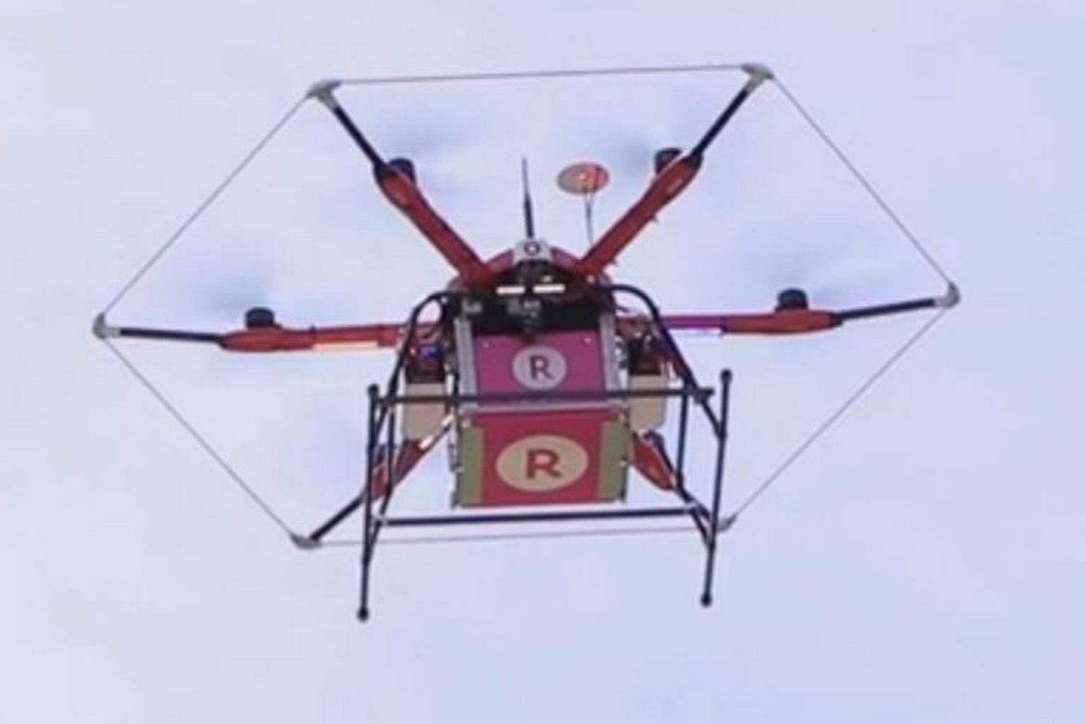 Rakuten launched its first drone delivery service last year. It is able to deliver products to players at golf courses.