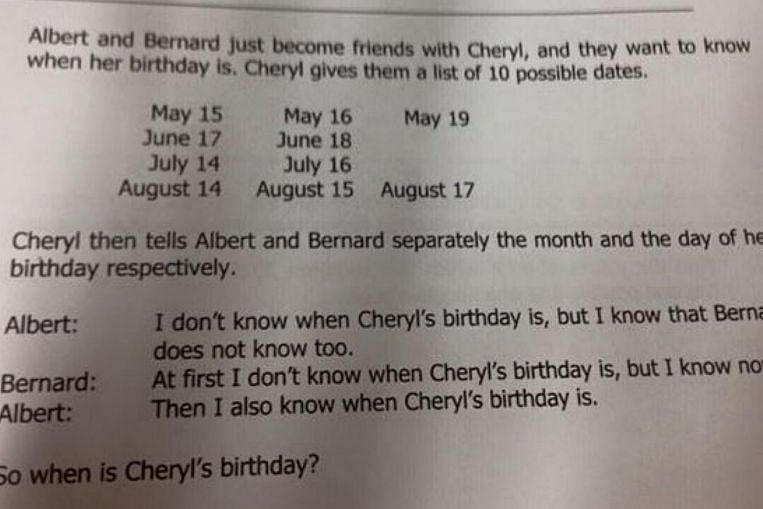'Primary 5' maths question turns out to be Sec 3 Math ...