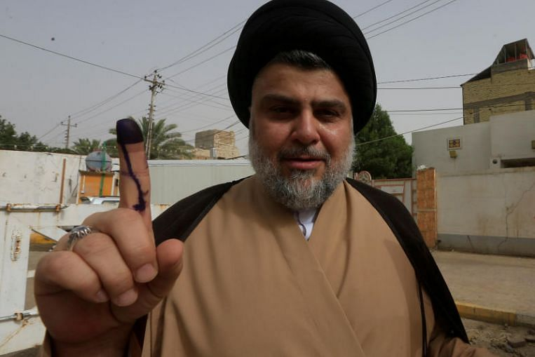 Iran and allies rally to limit Iraq election's surprise winner, Shi'ite cleric Moqtada Sadr