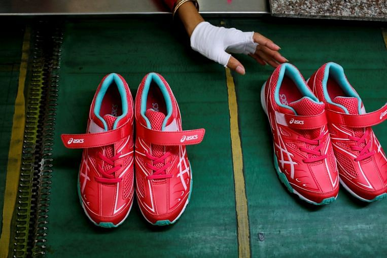 Shoes being made in Complete Honour Footwear Industrial at Kampong Speu, Cambodia, on July 4, 2018. Image: REUTERS
