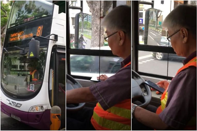 SBS Transit to discipline bus driver caught using phone while driving