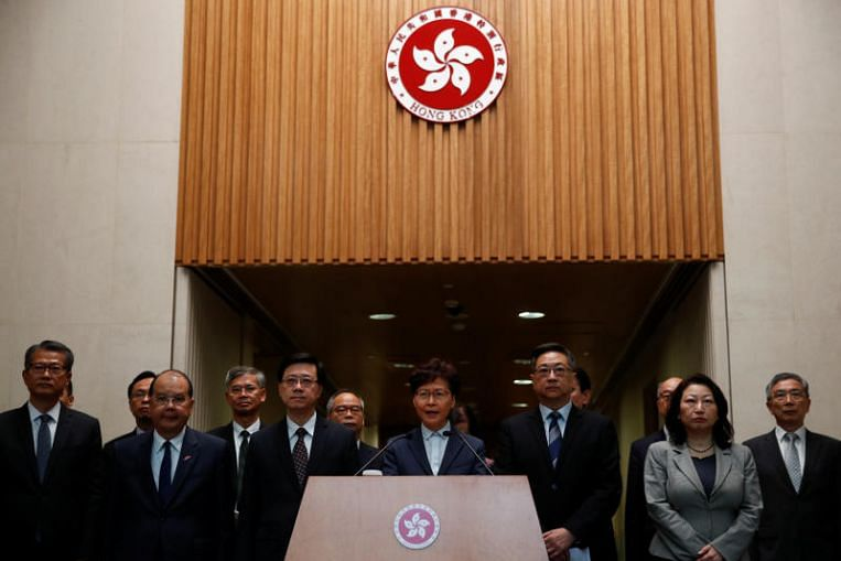 Hong Kong leader Carrie Lam condemns protest violence, attacks at Yuen Long station that injured more than 40, East Asia News & Top Stories - The Straits Times