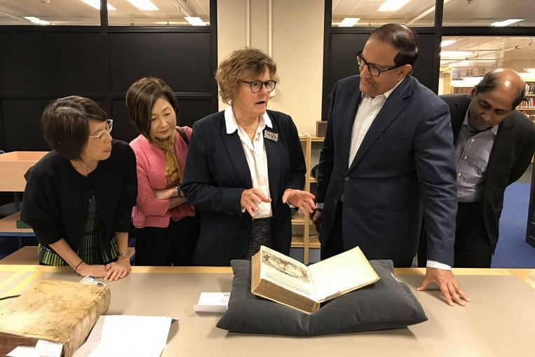 Key maps and documents at exhibition exploring Singapore's history before 1867