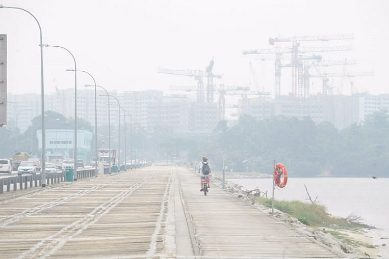 Hazy one moment, clear the next: Haze in Singapore is at mercy of the winds - The Straits Times