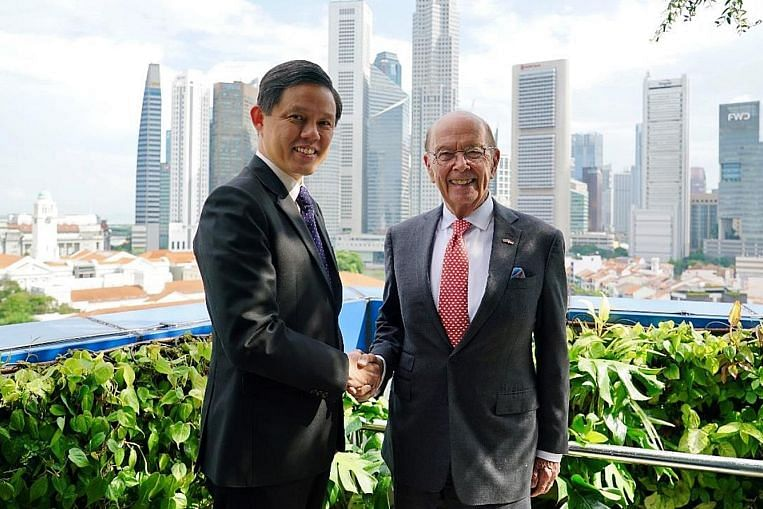 Reaffirming close trade ties between US and Singapore