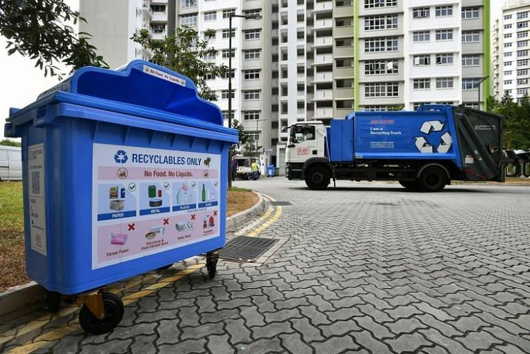 Doorstop collection service launched for Woodlands residents to recycle without leaving their homes
