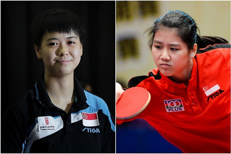 Table tennis: Teenage paddlers Rui Xuan and Xin Ru gunning for SEA Games upset - The Straits Times