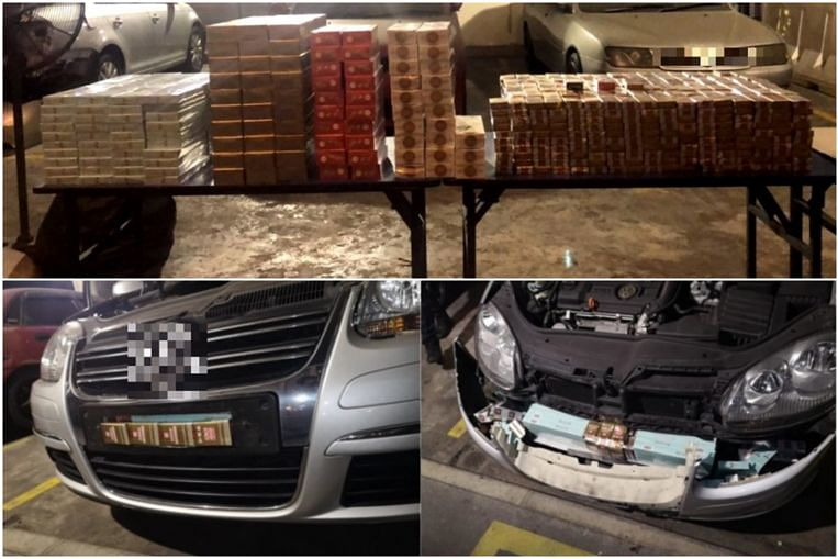 183 cartons, 973 packets of contraband cigarettes found after car breaks down at Woodlands Checkpoint