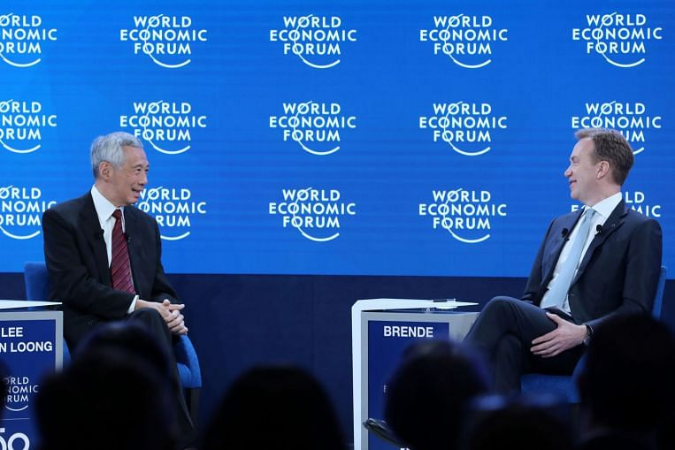 Singapore must keep faith in globalisation, make system work for its people, PM Lee tells dialogue in Davos