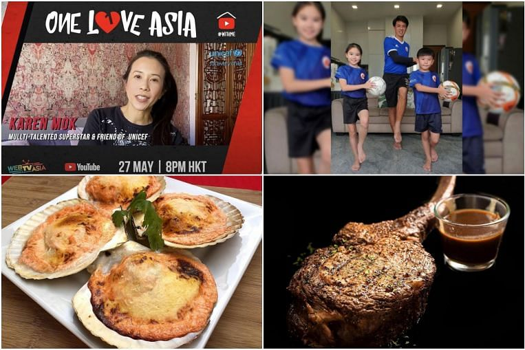 #Stayhome guide for Wednesday: Watch One Love Asia Concert, feast on Japanese-style grilled scallops and more