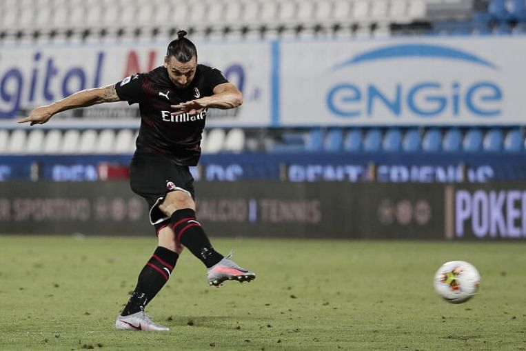 Football: Milan rescued by stoppage-time own goal against struggling 10-man Spal in Serie A
