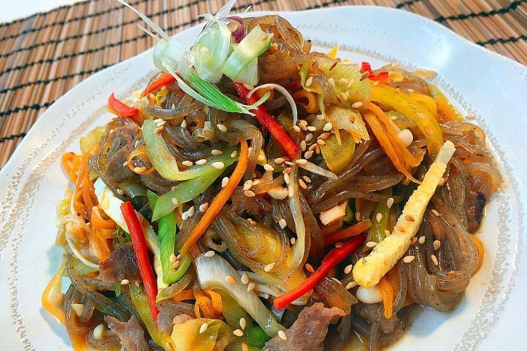 Healthier noodle stir-fry