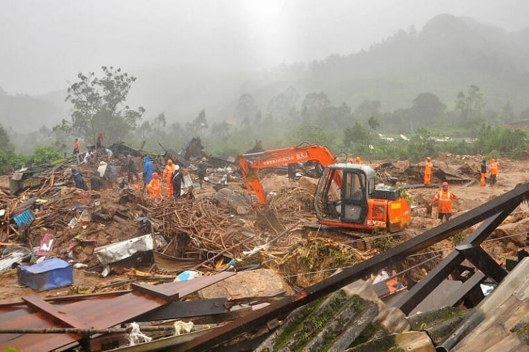 At least 29 killed in monsoon-triggered India landslide – The Straits Times