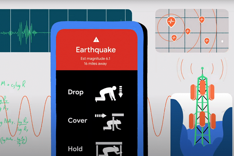 Google turns Android phones into earthquake sensors; California to get alerts.