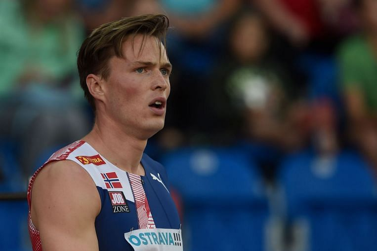 Athletics: Warholm comes up short again in world record attempt - The Straits Times