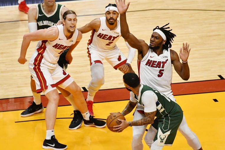 NBA: Heat bounce back from embarrassing defeat with win over Bucks - The Straits Times