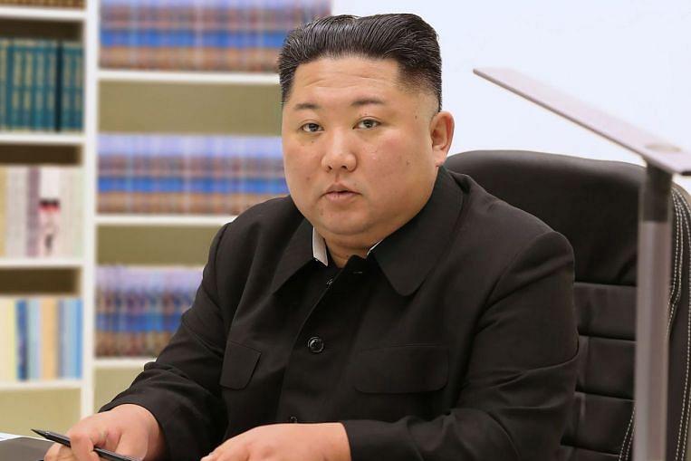 www.straitstimes.com: Kim Jong Un urges 'big leap foward' at rare North Korea congress