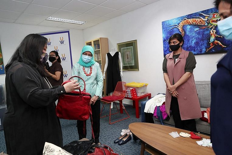 Halimah urges help for women to upskill for better job protection thumbnail