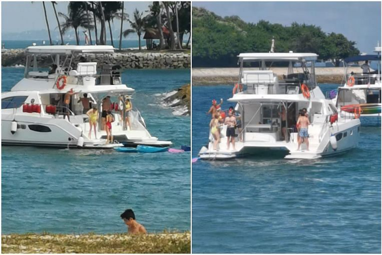Licence of pleasure craft suspended after people filmed partying near Lazarus Island on Boxing Day thumbnail