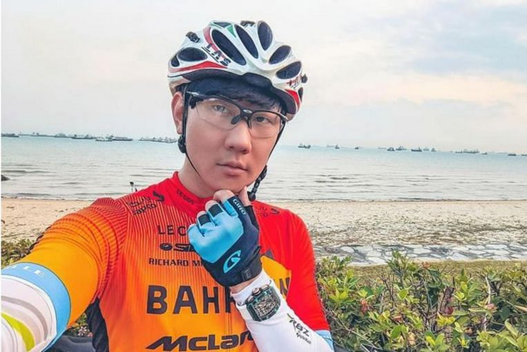 JJ Lin spotted cycling with million-dollar watch