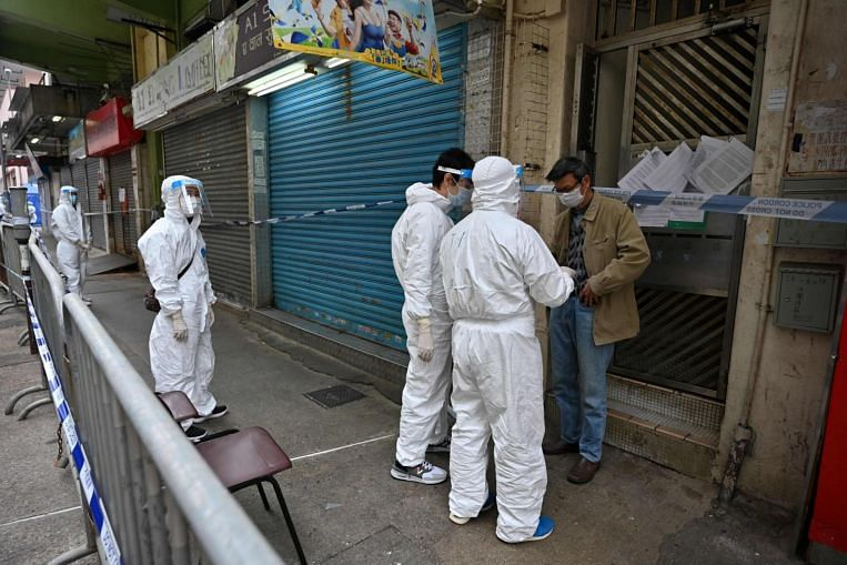 Hong Kong quarantines building tenants after mutant strain found