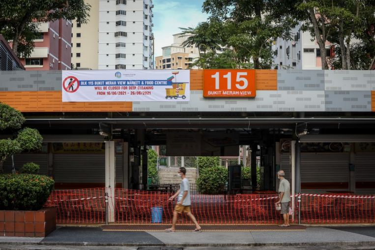 Five unlinked cases, as Covid-19 cluster at Bukit Merah View market grows to 73