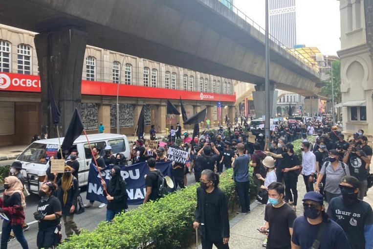 Protesters in downtown Kuala Lumpur demand PM Muhyiddin's resignation, SE Asia News & Top Stories