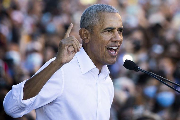 Obama warns of Republican threat to democracy in US battleground of Virginia