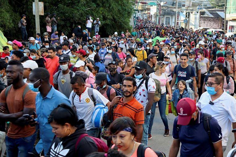 New migrant caravan in Mexico pushes past blockade to head north, towards US