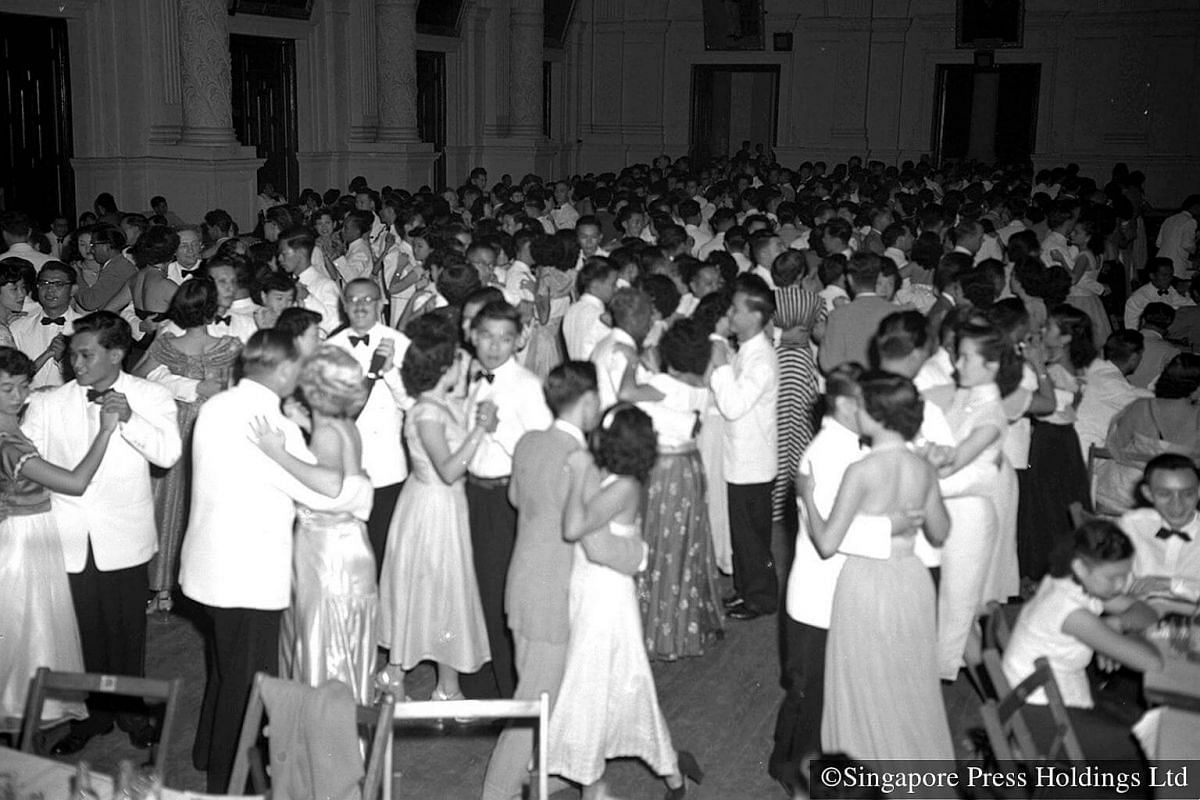 1953: A night of revelry at a Chinese New Year Ball on Chap Goh Mei, held in aid of SATA. Chap Goh Mei marks the 15th and last day of the Chinese New Year celebrations.