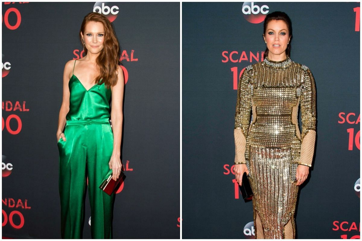 Actresses Darby Stanchfield (left) and Bellamy Young added shine to the event.