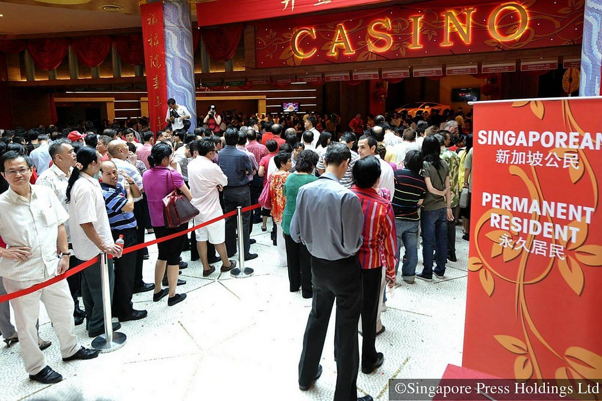 2010: Long queues that form outside the casinos are similarly seen at lottery outlets across the island during Chinese New Year, with the jump in number of people hoping to cash in on their new year luck.