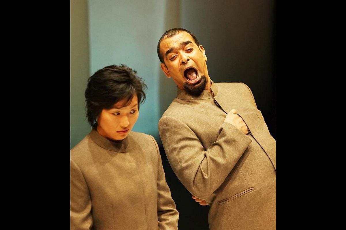 Claire Wong and Huzir Sulaiman in the 2003 revival of Atomic Jaya (above), Jo Kukathas in Atomic Jaya (1998) when it was first staged in Kuala Lumpur, and Huzir Sulaiman – Collected Plays 1998-2012.