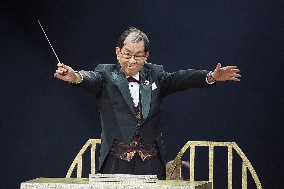 Joseph Koo says he has no talent for singing and will only act as conductor for some of the songs at this Saturday's concert.