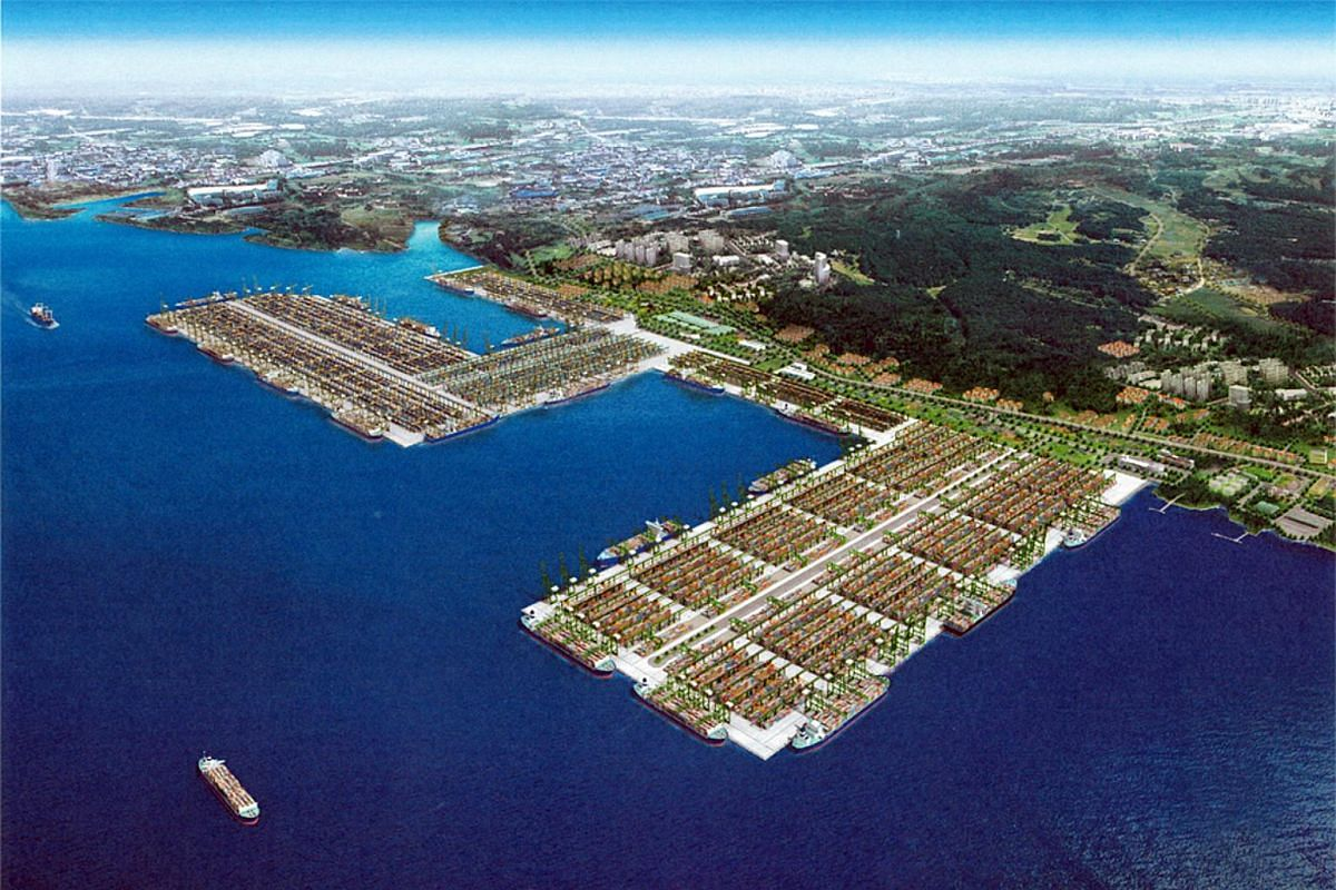 An artist's impression of the $3.5 billion Phase 3 and 4 expansion of Pasir Panjang Terminal, which will be fully operational by the end of 2017.