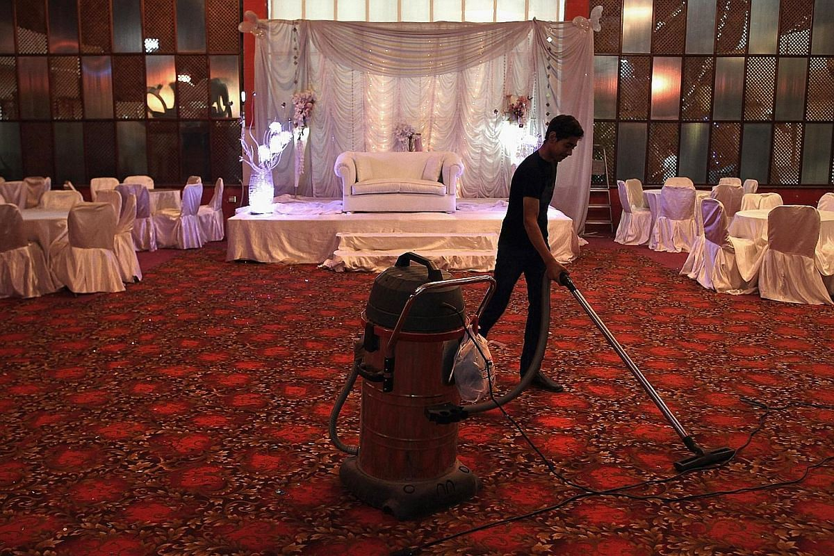 A wedding hall in Cairo. To raise funds for events such as weddings, many low-income Egyptians turn to money collectives. Such collective savings arrangements are part of Egypt's vast informal economy.
