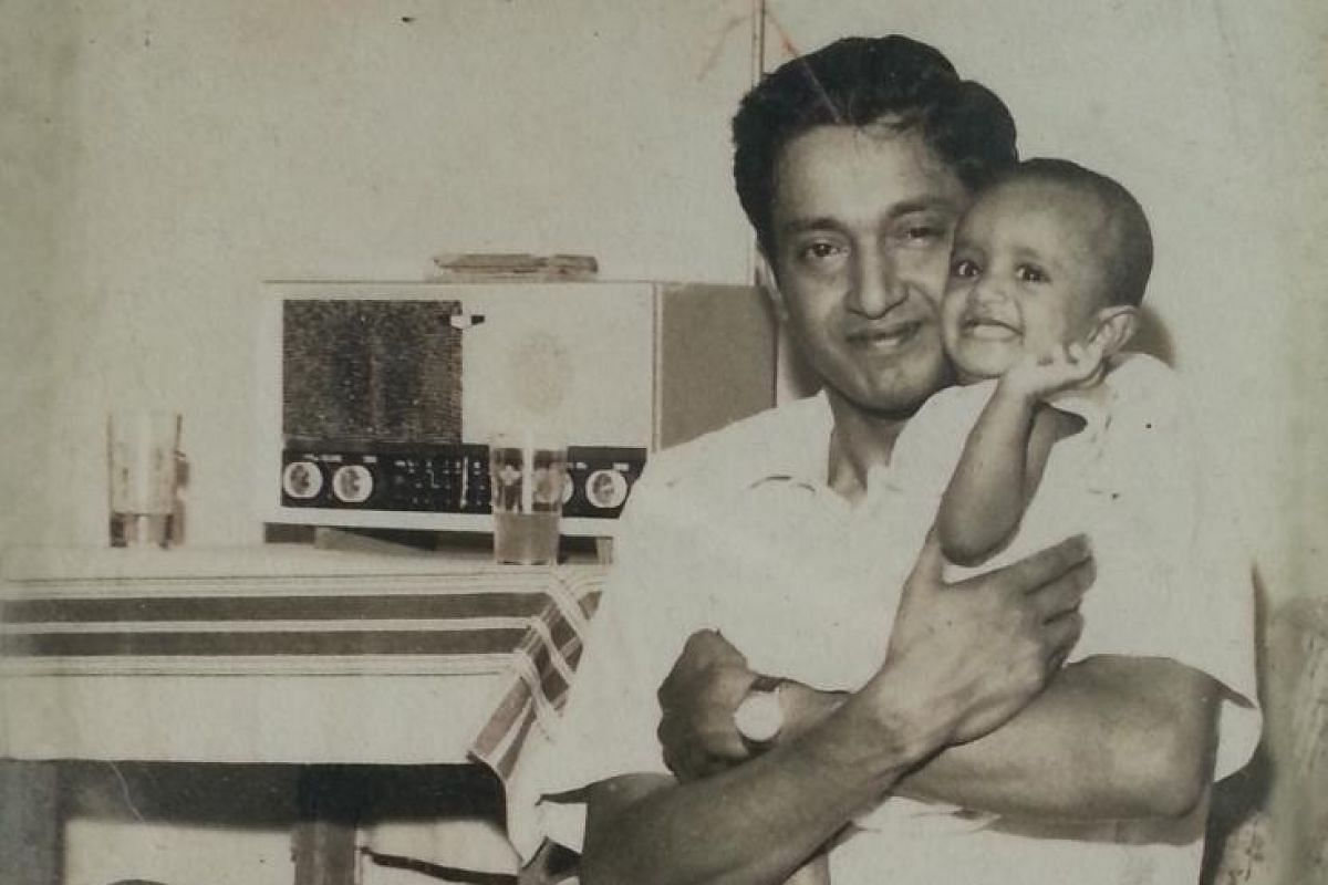 Jo Kukathas as a child and with her late father K. Das (above), a former prominent political writer and journalist in Malaysia.