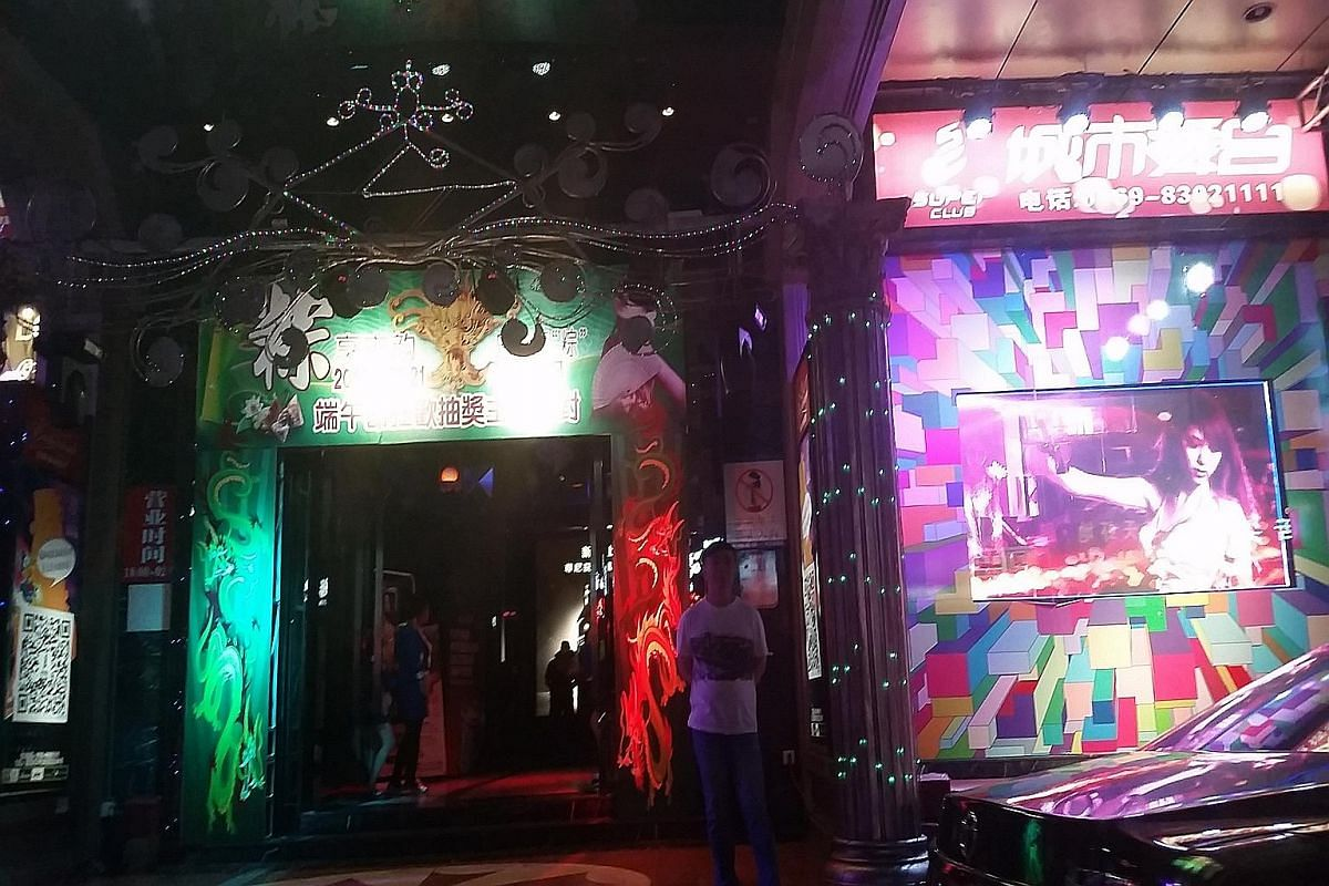 The nightlife in Dongguan has become less active since an anti-vice crackdown last year, as evident at this nightclub (above) in the city. Dongguan was once a byword for prostitution, with about 250,000 sex workers in a city of just seven million peo