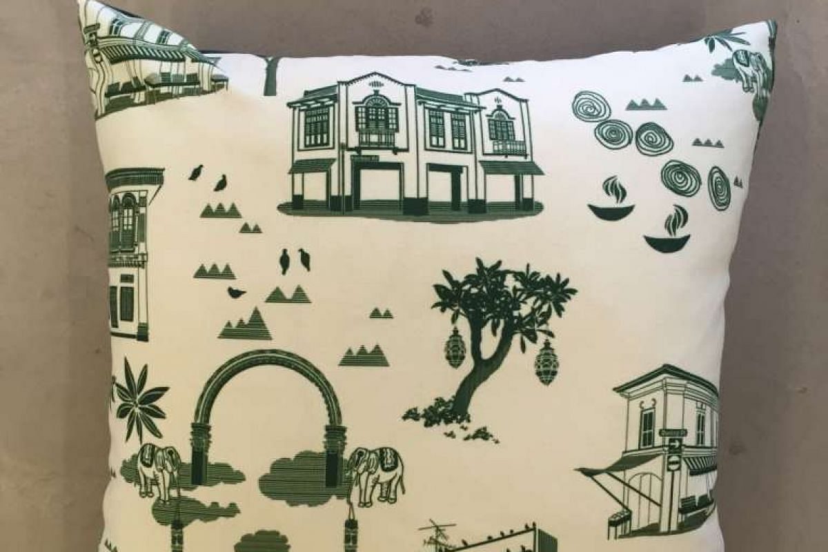 Mr Tay's Little India cushion (above).