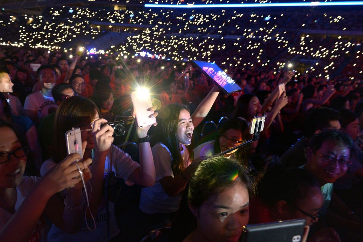 There was no shortage of photo opportunities at last night's concert, with the entertainers shining on stage and selfies aplenty among the crowd as they revelled in the music.