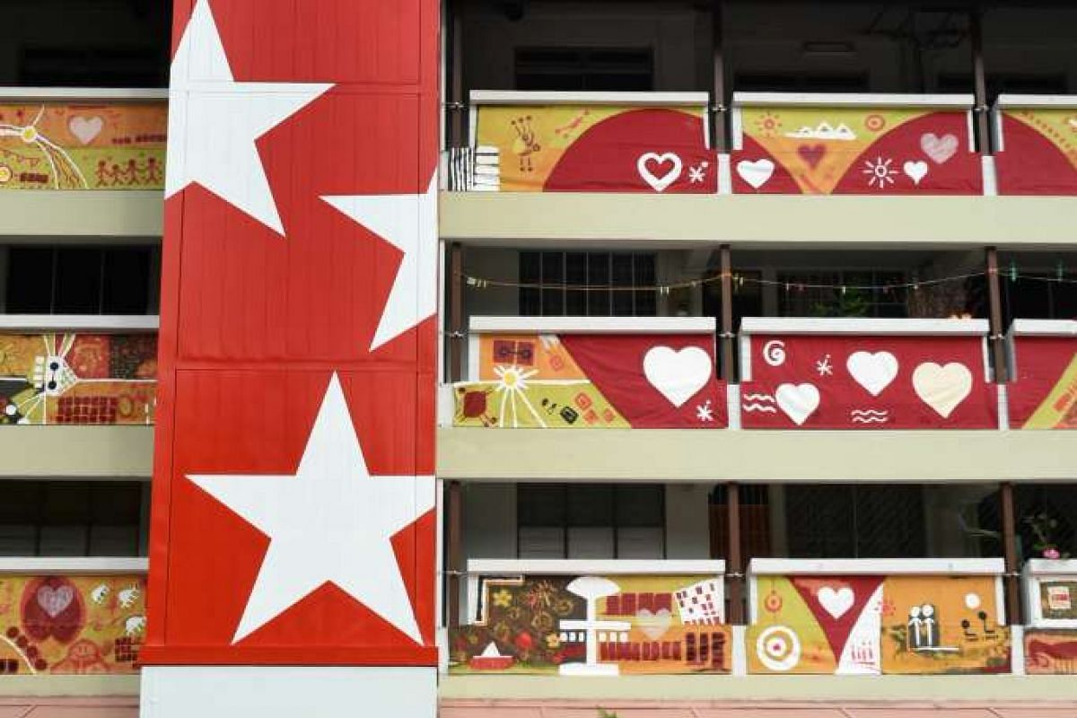 Icons @ Heartland goes on display at Block 58, Marine Terrace, while Project HEARTview is seen at Block 374, Bukit Batok St 31 (above).