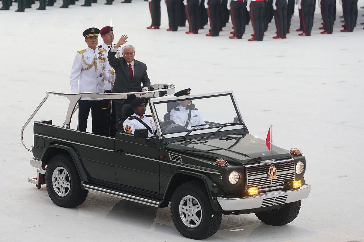 President Tony Tan at the parade.