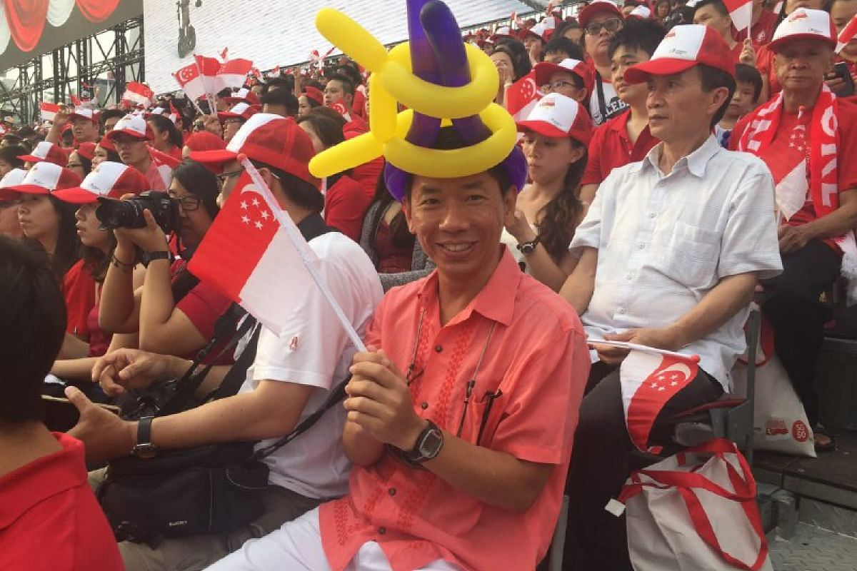 """Public servant Laurence Wong, 46, wishes Singapore """"another good 50 years!""""."""