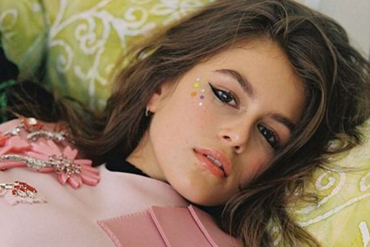 Young girls on the modelling scene include Kaia Gerber (above), 13, in a fashion spread for CR Fashion Book, and Lily-Rose Depp, 16, the new face of Chanel's pearl eyewear collection.