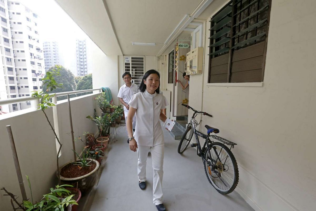 Fengshan PAP candidate Cheryl Chan doing house visits.