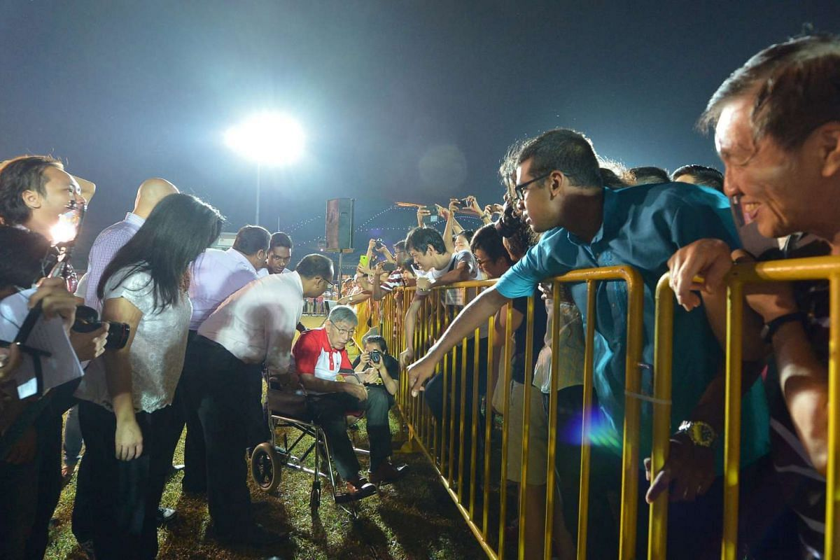 The Singapore People's Party rally for Mountbatten SMC at the sports field bounded by Stadium Drive and Stadium Boulevard on Sept 6, 2015.
