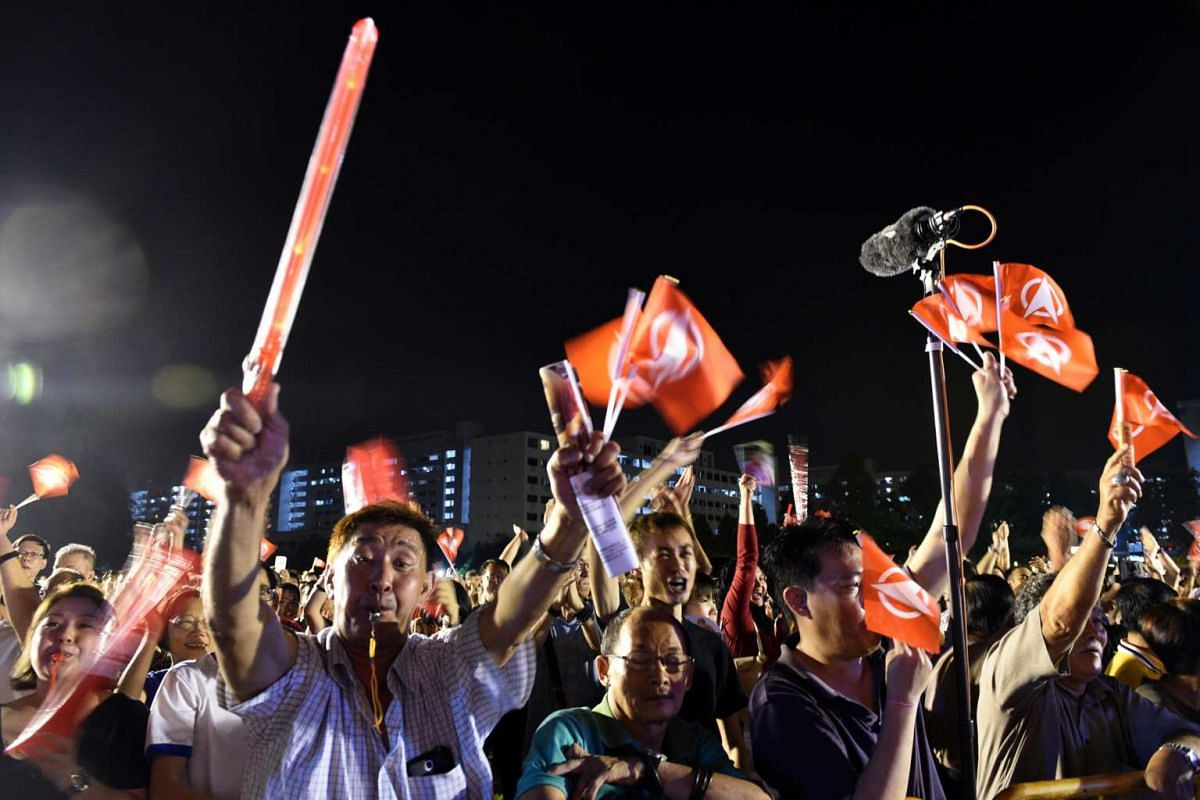 SDP supporters at the party's Petir Road rally.