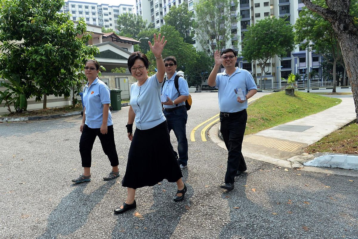 Workers' Party walkabout at Punggol East SMC.