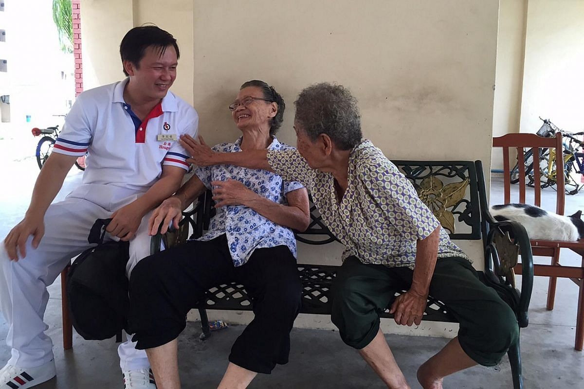 People's Action Party candidate for Hougang SMC Mr Lee Hong Chuang on the campaign trail in Hougang on Sept 4, 2015.