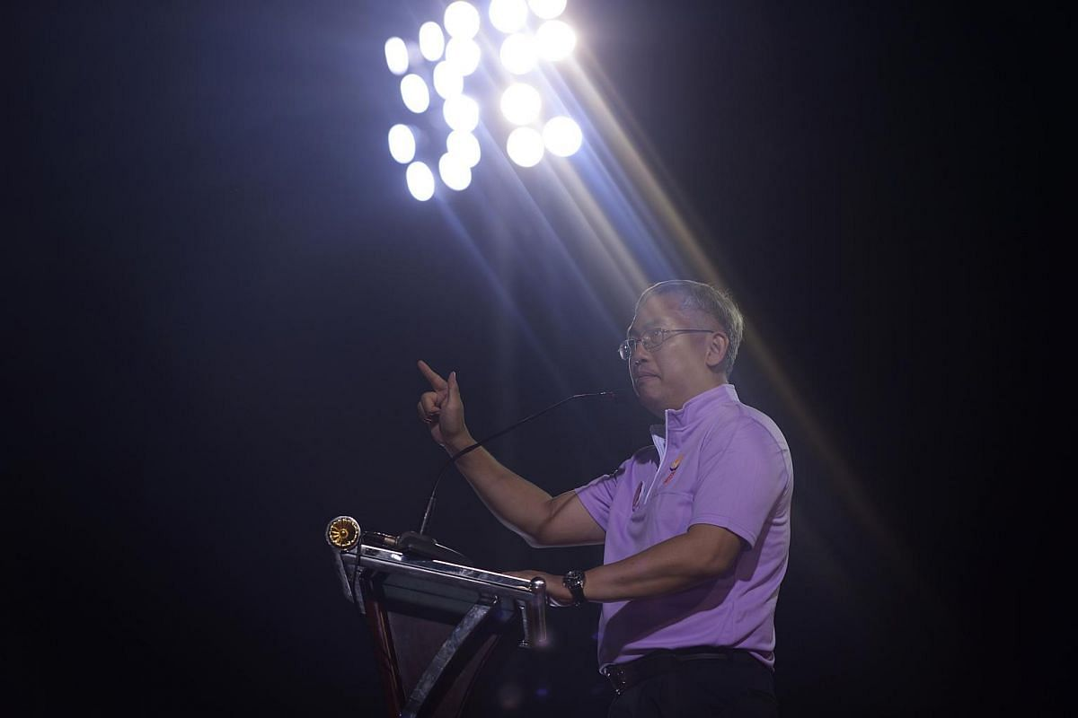 Goh Meng Seng, secretary-general of People's Power Party (PPP) speaking at Bukit Gombak Stadium on Sept 4, 2015.